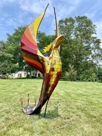 sculpture of a phoenix