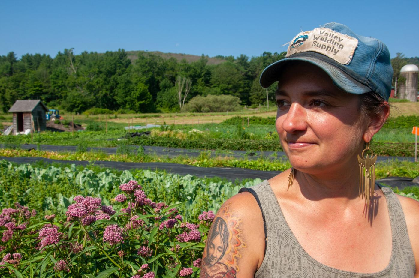 Molly Comstock looks out upon her Colfax Farm