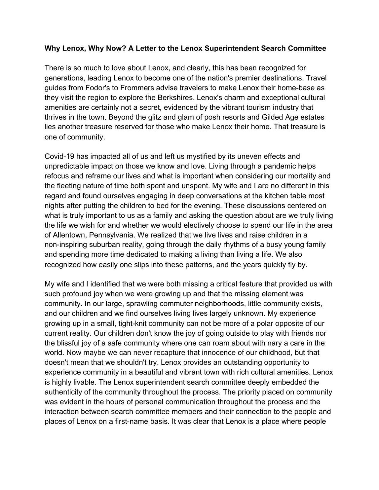 Gosselin letter