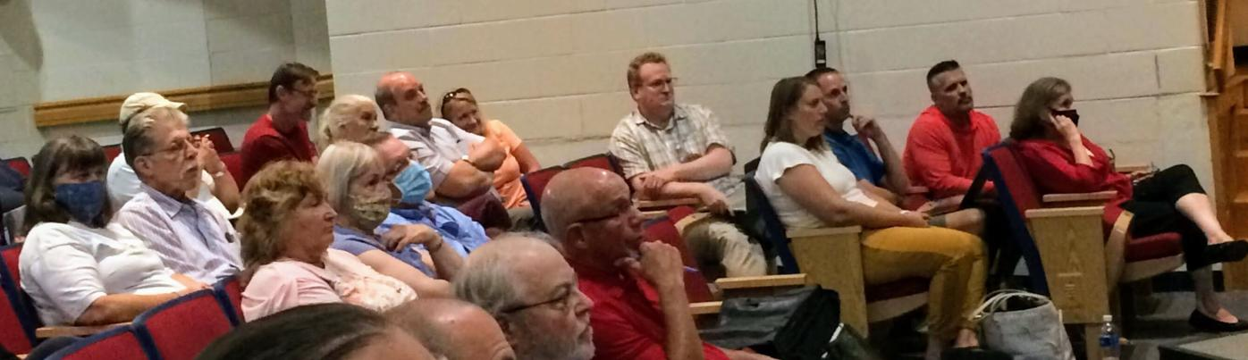Audience at Hinsdale meeting on RV park