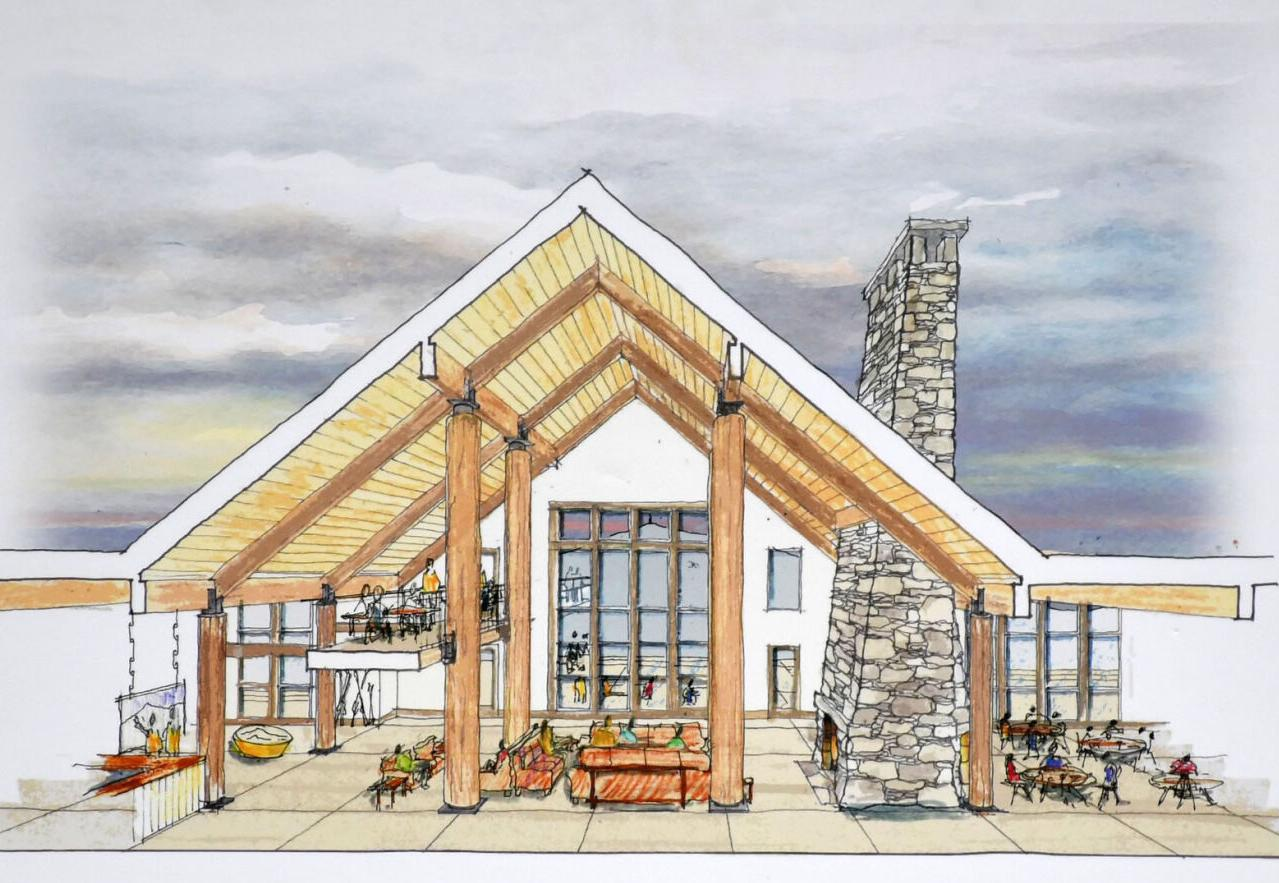 A drawing of proposed building