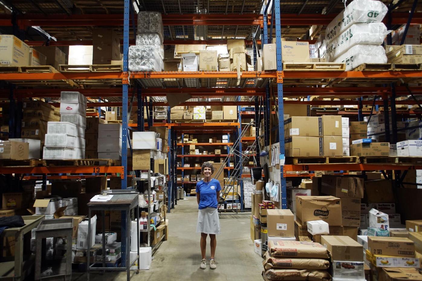 Lynn Kessler in warehouse