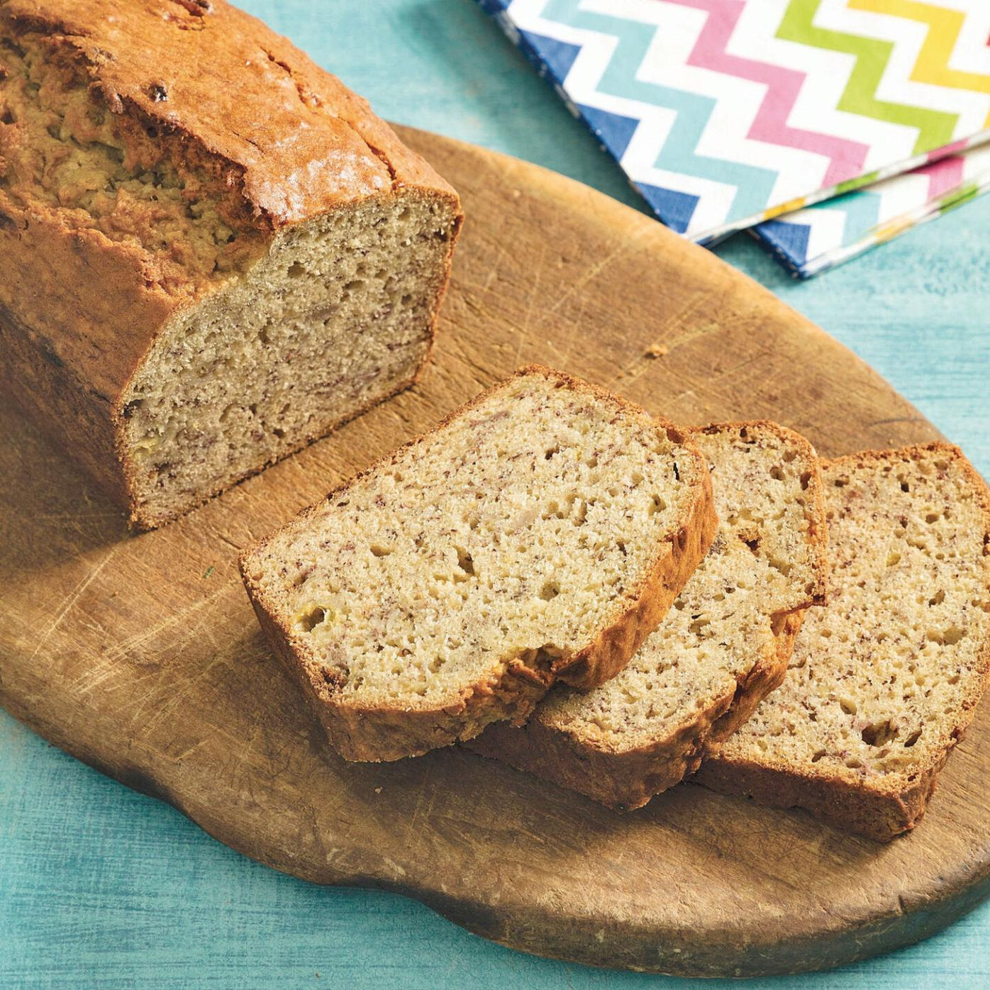 Dress up banana bread with nuts, spices or chocolate