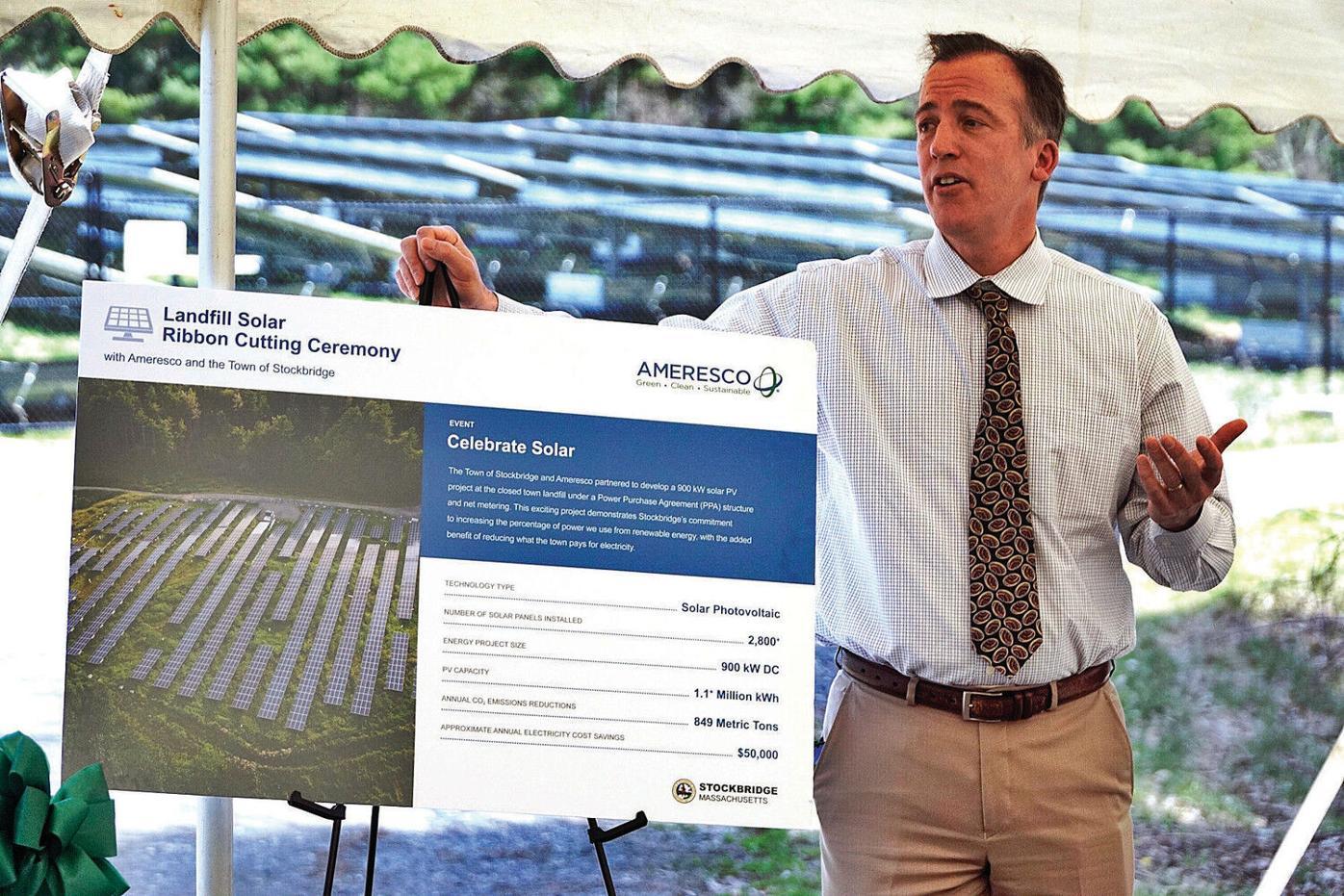 Light, panels, action: Stockbridge celebrates its new 900-kW solar array