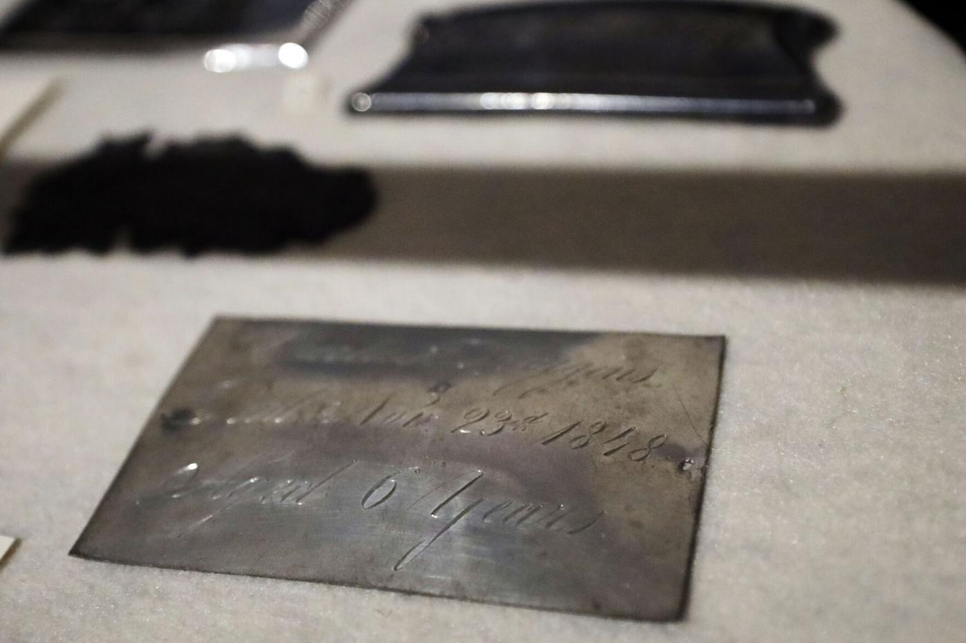 Coffin plate from 1848