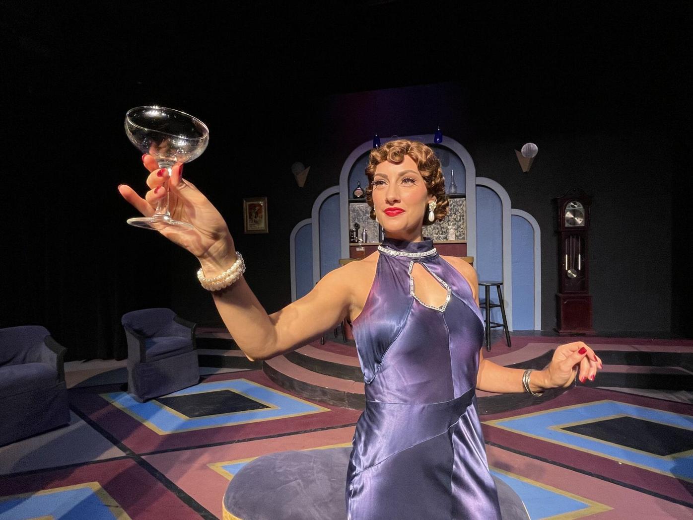 1930s woman raises glass