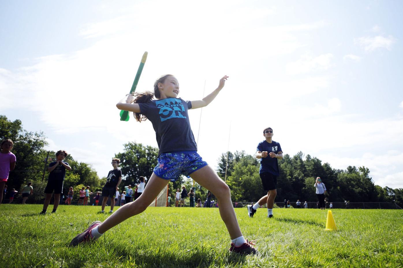 Hazel Schaller throws javelin
