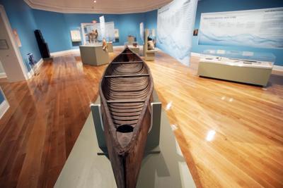 Canoe in Muh-he-con-ne-ok exhibit