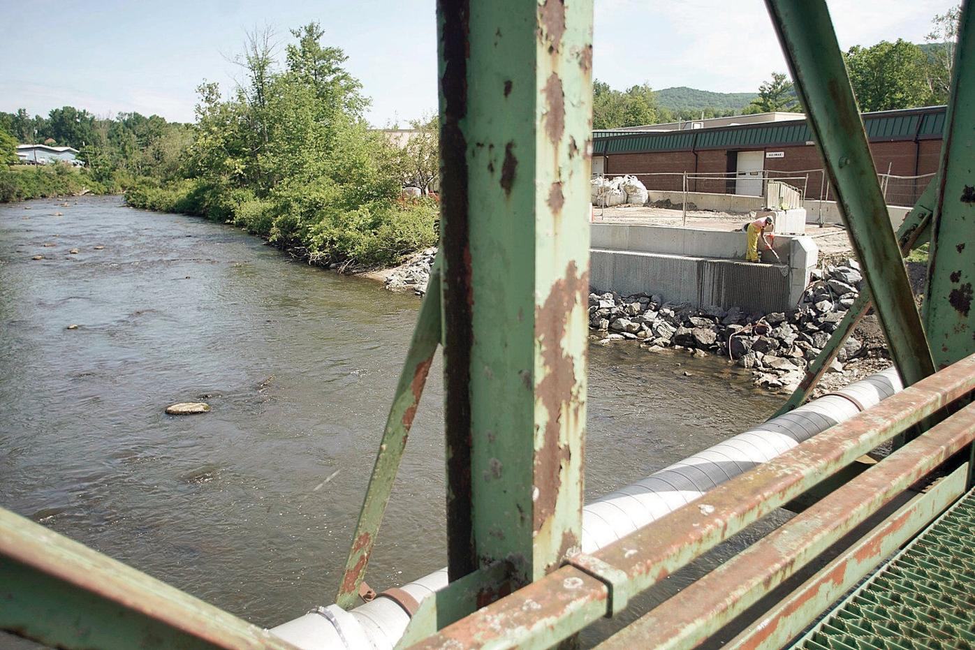 Bridge replacement work begins on vital trucking route between Lee, Lenox Dale