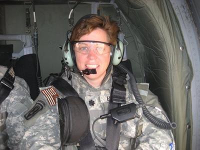 Kim Enderle in Iraq in 2008