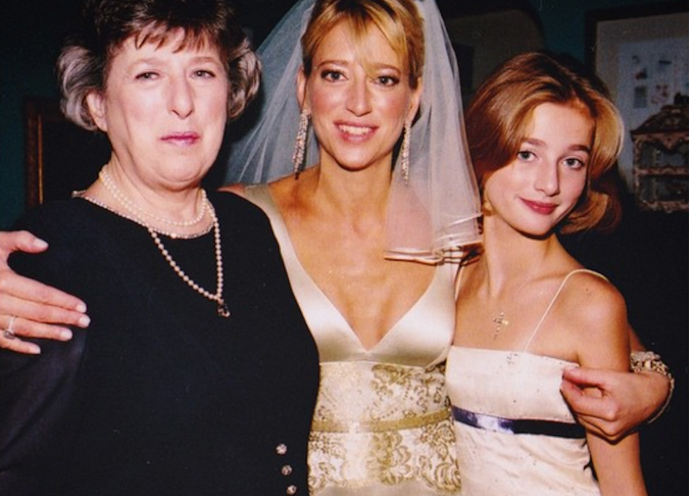 Dorinda Medley at her wedding with mother and daughter
