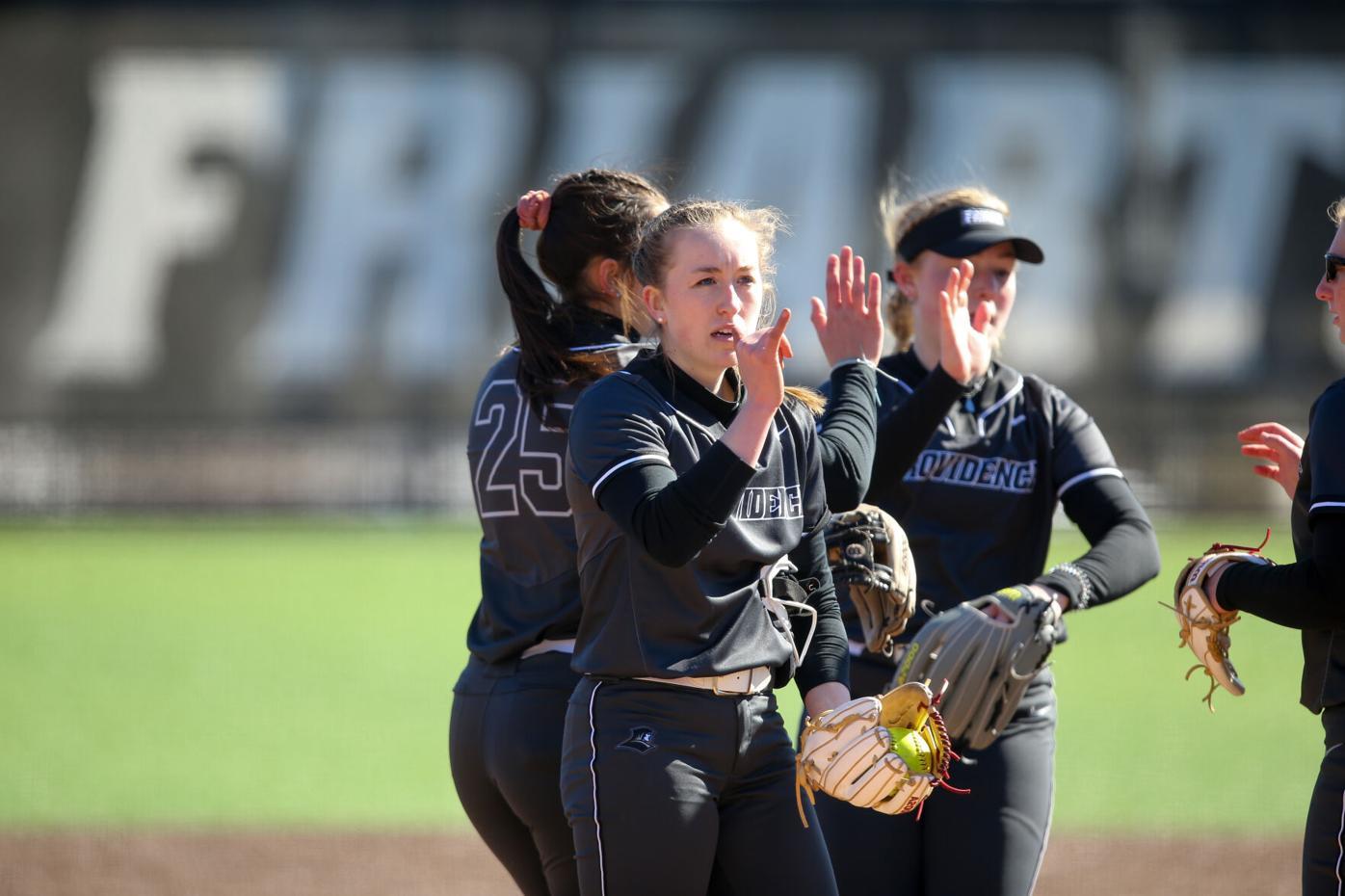Julia Murphy signals to teammates