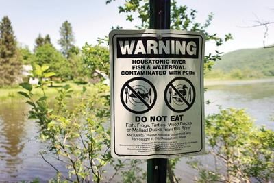 PCBs Sign at Woods Pond