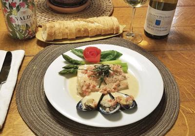 Impress your Valentine with easy salmon, mussels in white cream sauce