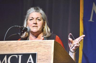 Former acting Gov. Jane Swift speaks at MCLA