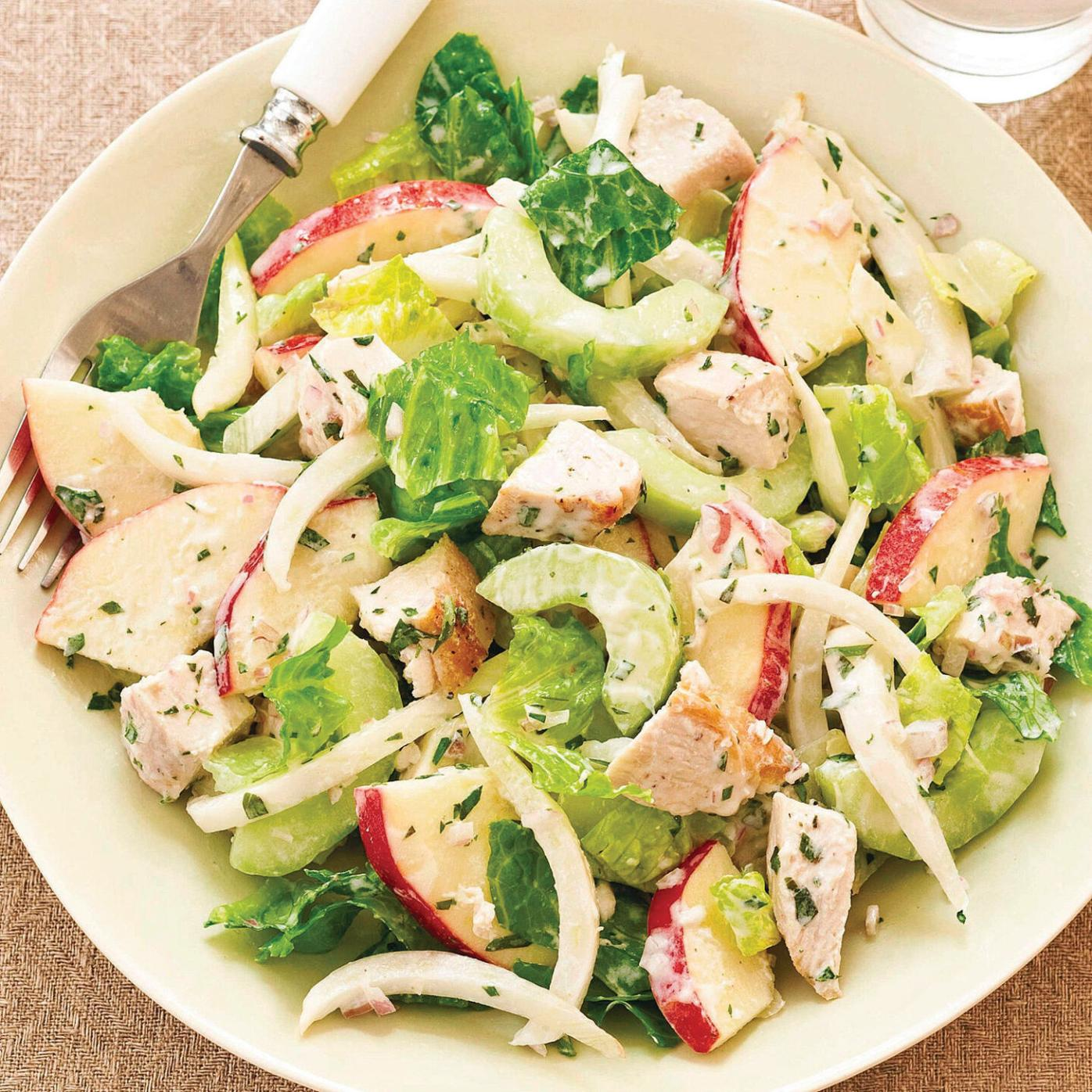 Cucumber, fennel, apples and romaine sing in this salad