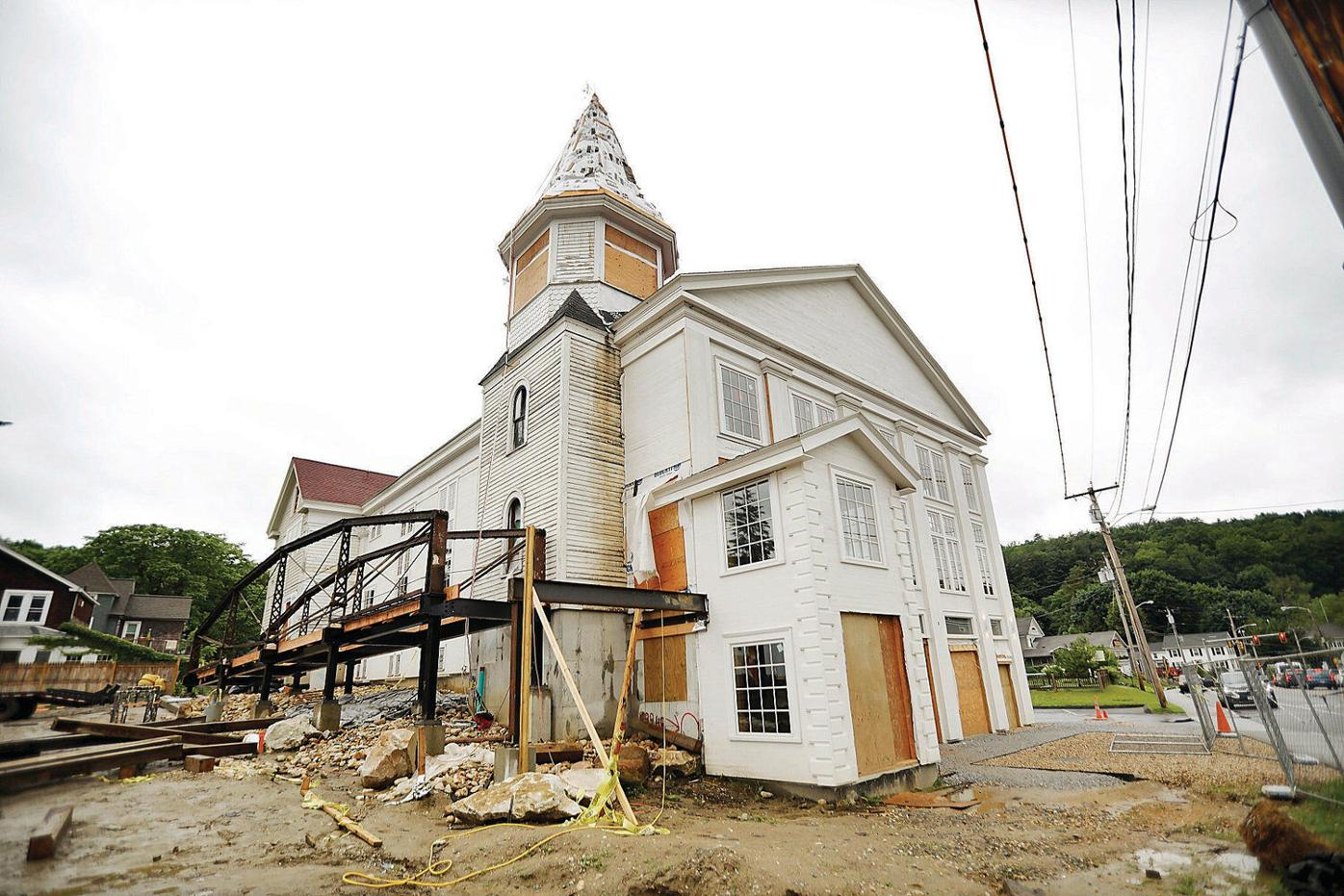 With 'flying church' renovations progressing, developer has high hopes