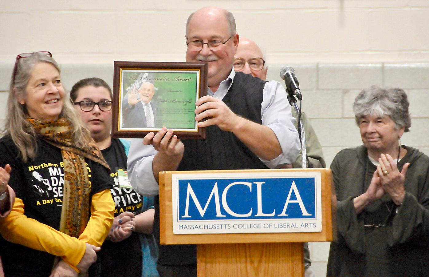 Alcombright receives Peacemaker Award at annual Northern Berkshire Community Coalition MLK Jr. Day of Service