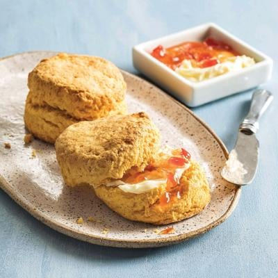 Sweet potato adds earthiness to fluffy biscuits