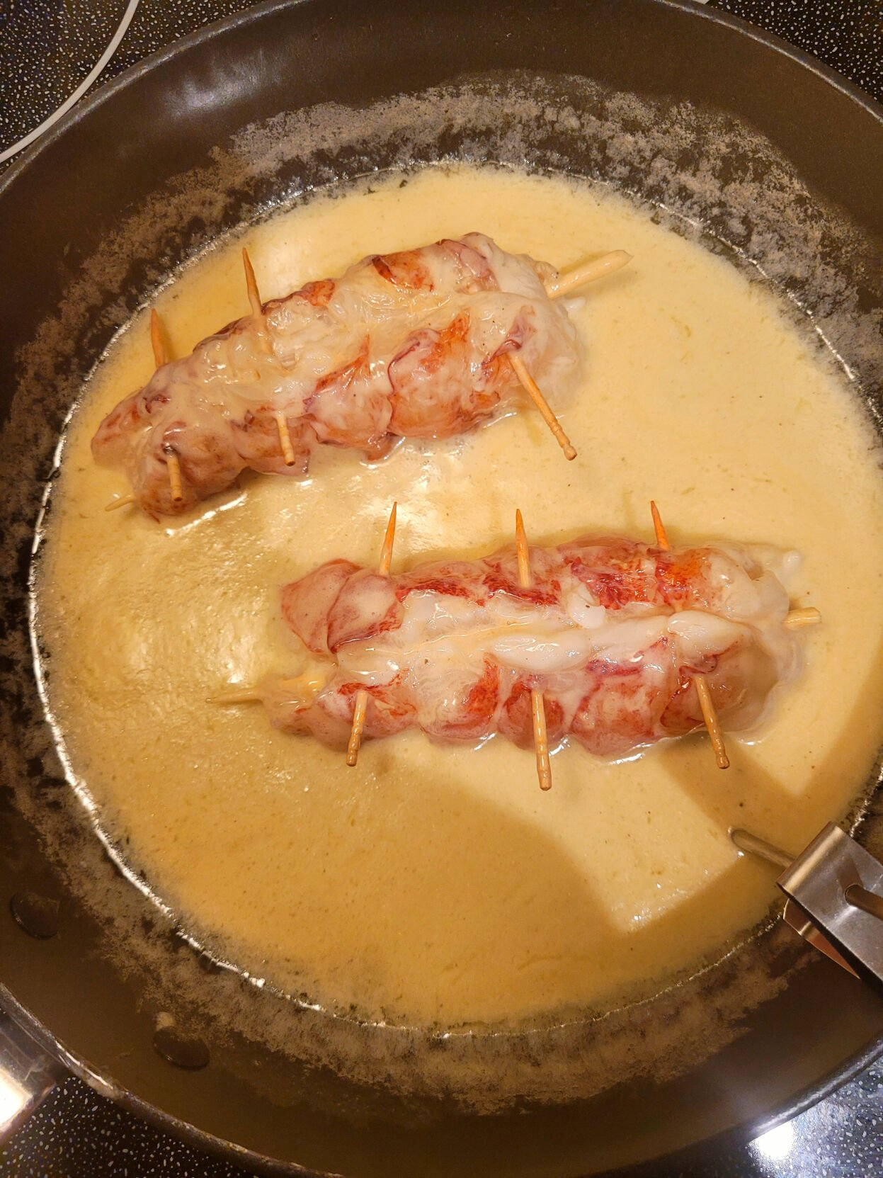 Butter-poached lobster tails