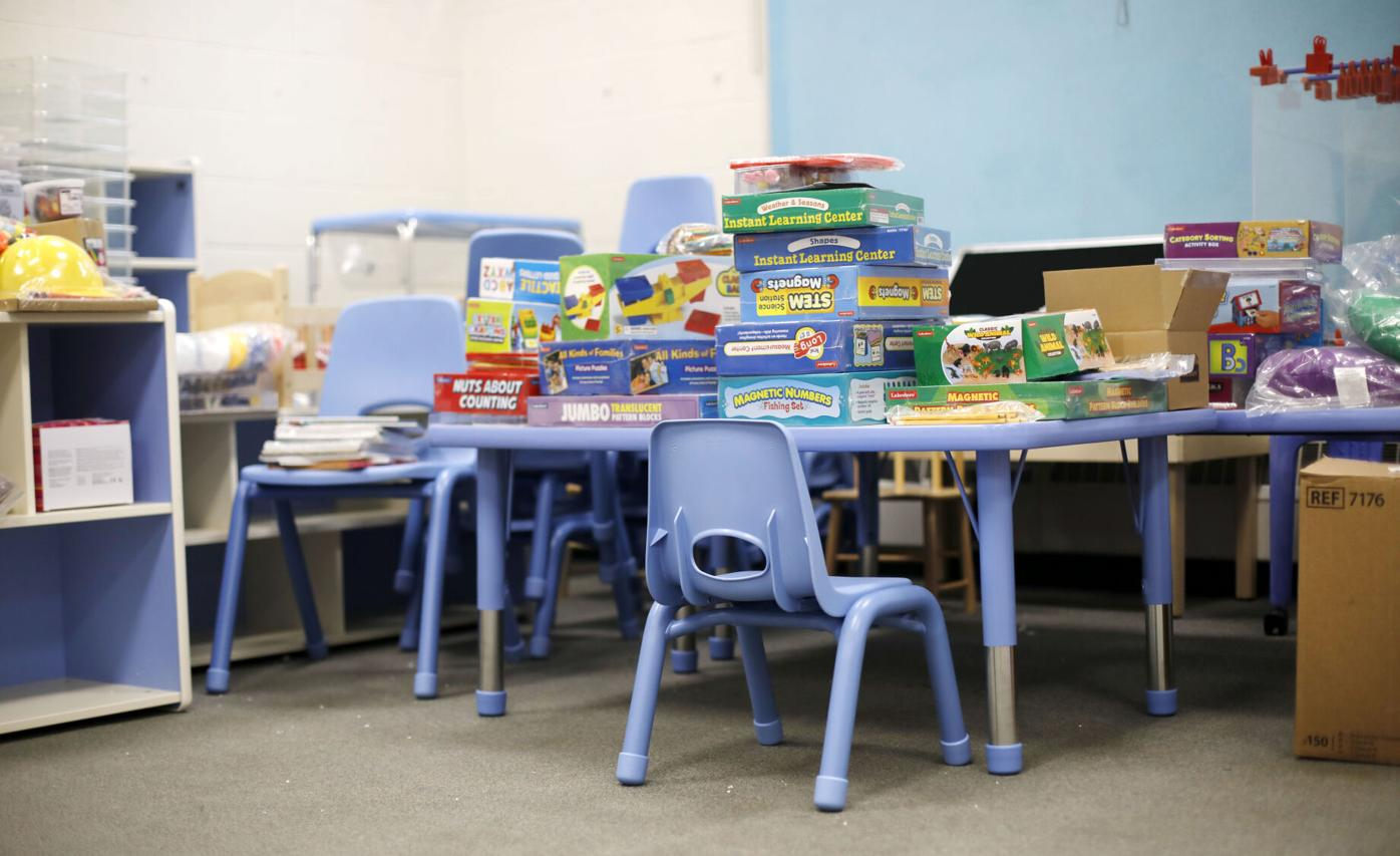 new classroom learning supplies and furniture for young children