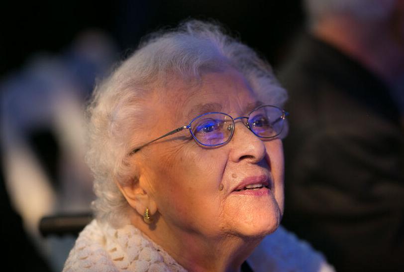 Micheline Toureille visiting Holocaust Museum.jpg