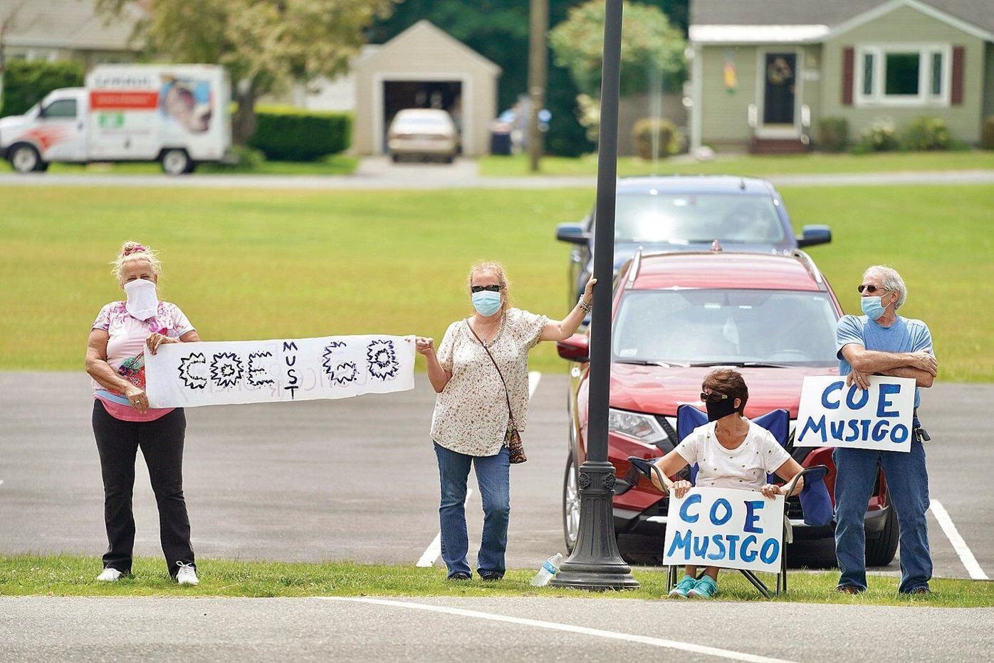 Protesters outside hearing call for Dalton chief's firing, next hearing June 18