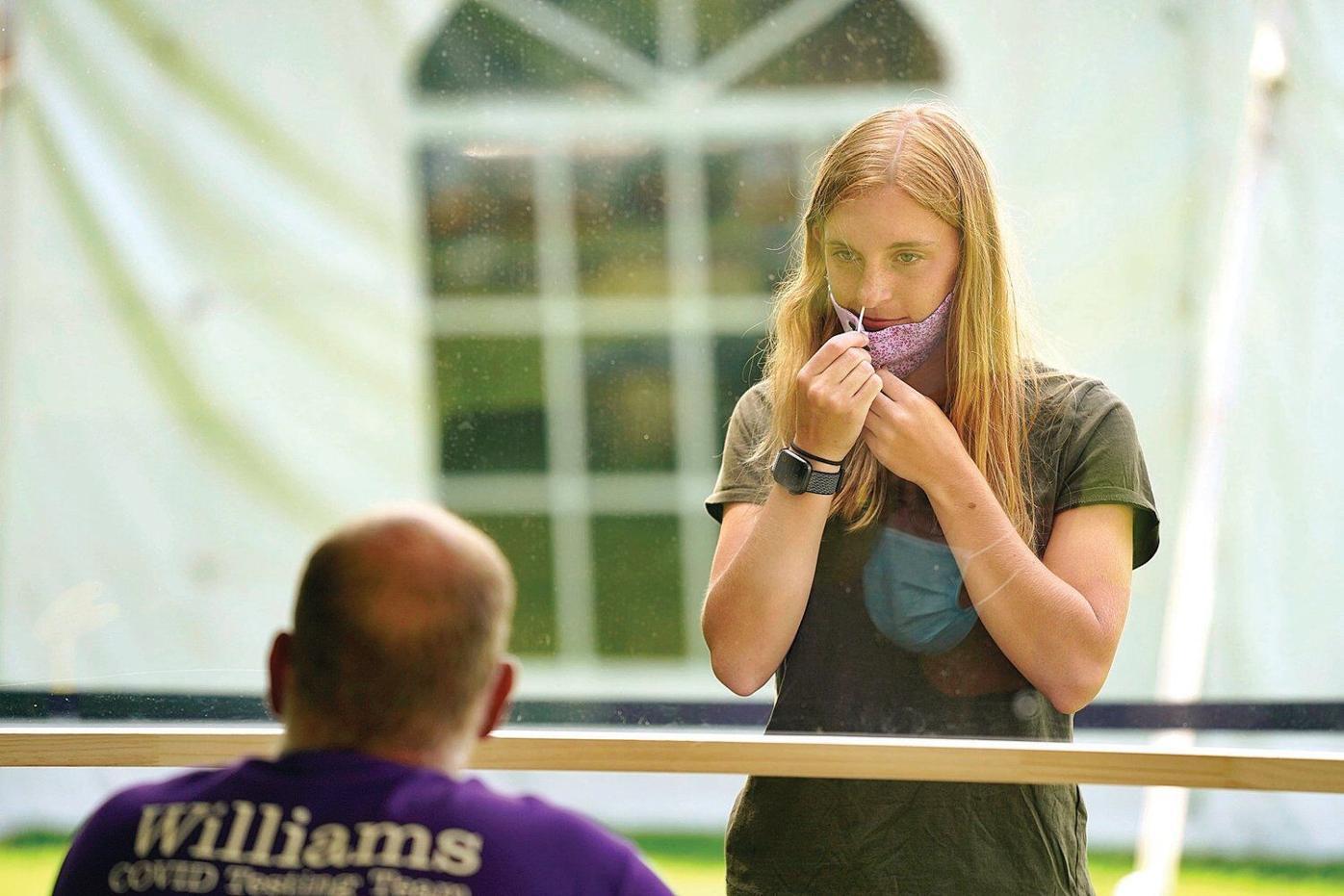 Williams College students return to campus pandemic precautions