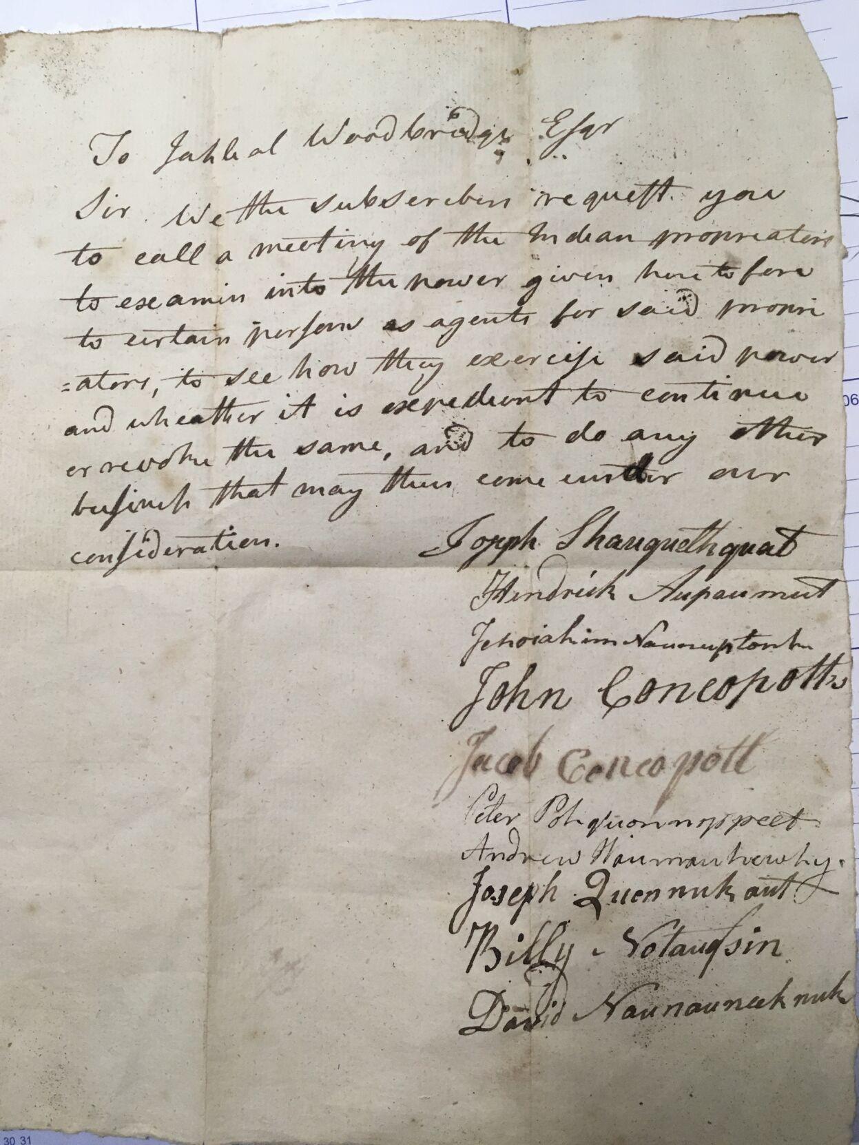 Stockbridge letter