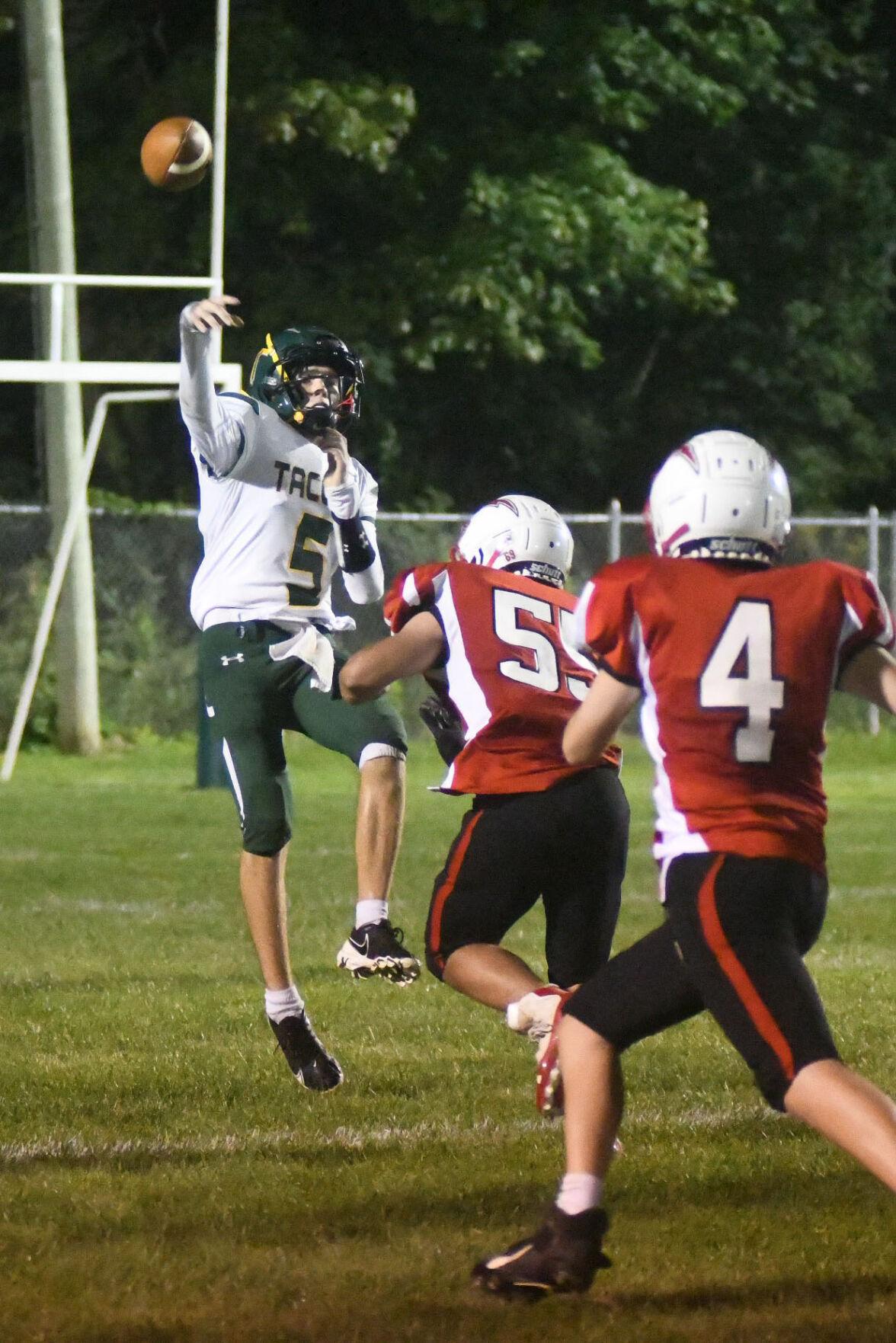 Taconic's McIntosh passes the ball