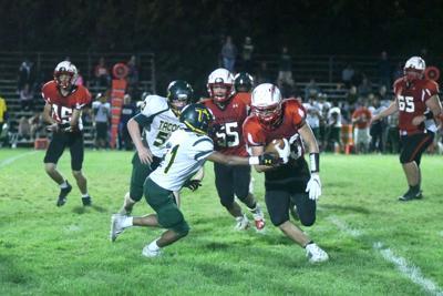 Hoosac's Aaron Bush runs the ball