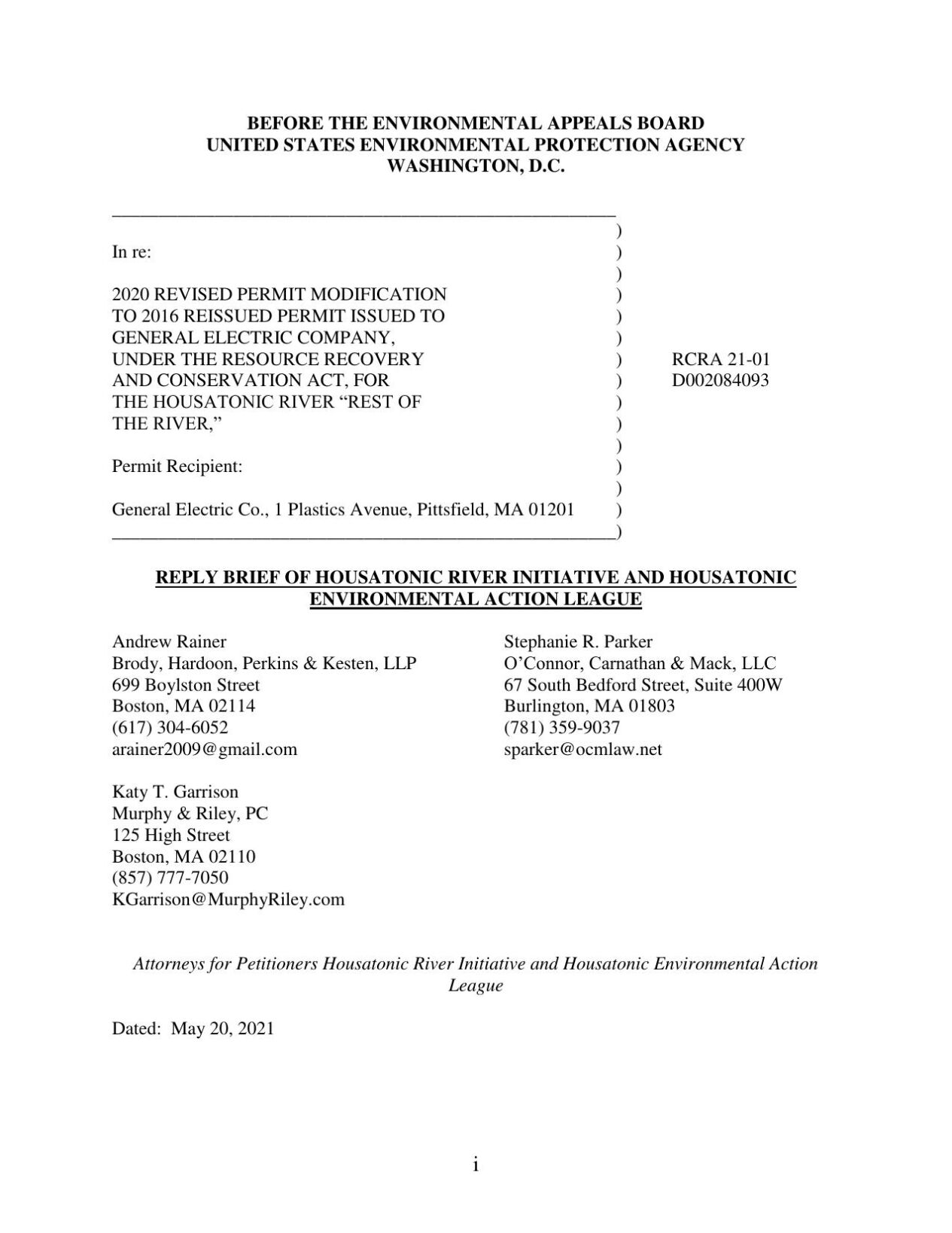 HRI and HEAL reply brief