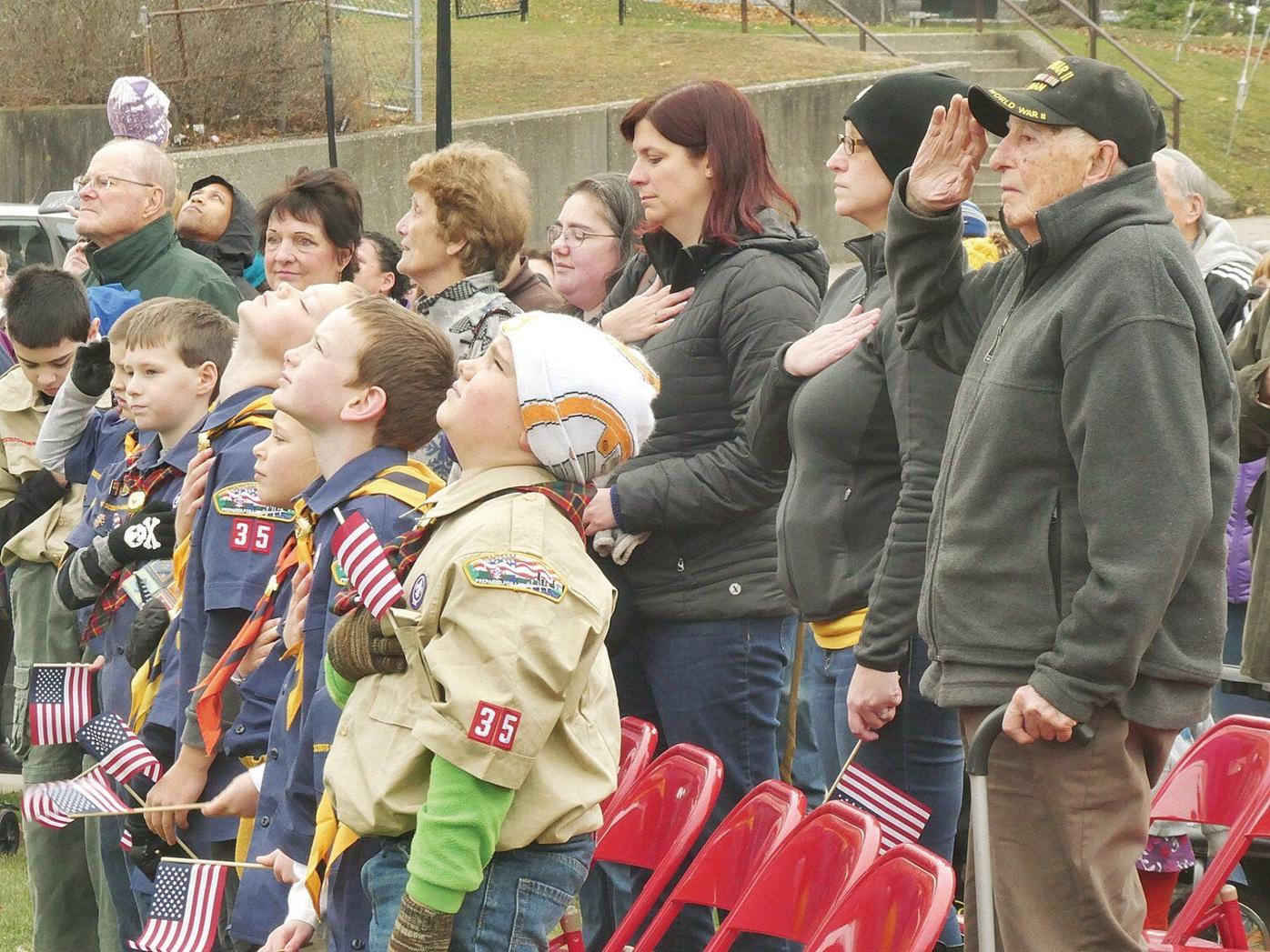 'Support and defend' — Local veterans honored at North Adams memorial