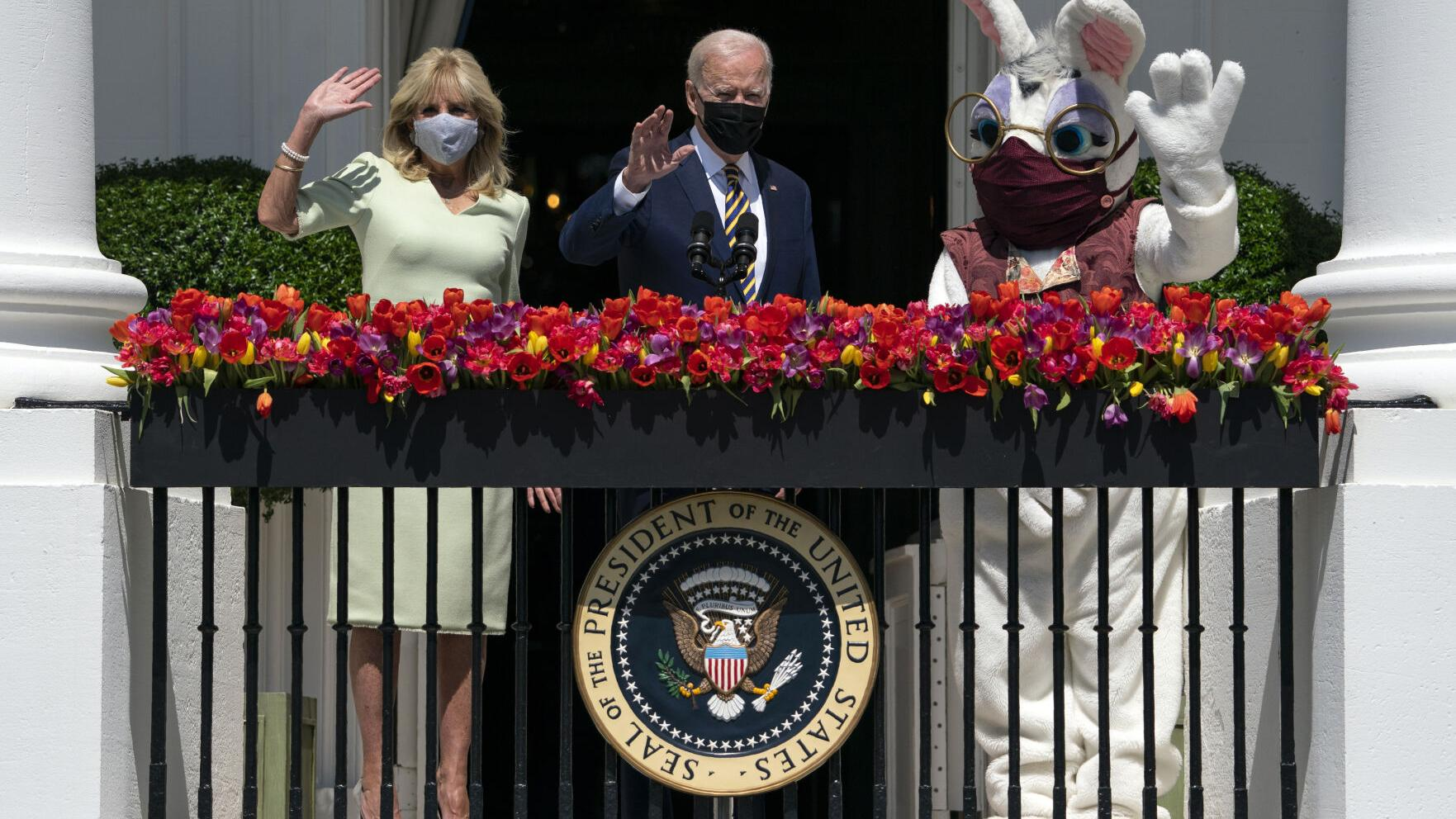 False posts claim Biden suffered Easter health emergency at White House