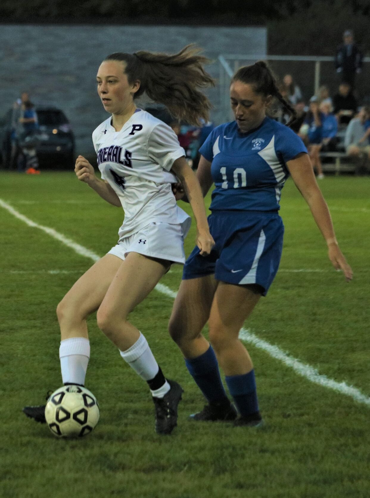 cece supranowicz and claire naef play soccer