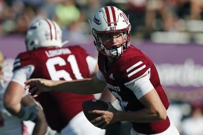 Brady Olson plays quarterback