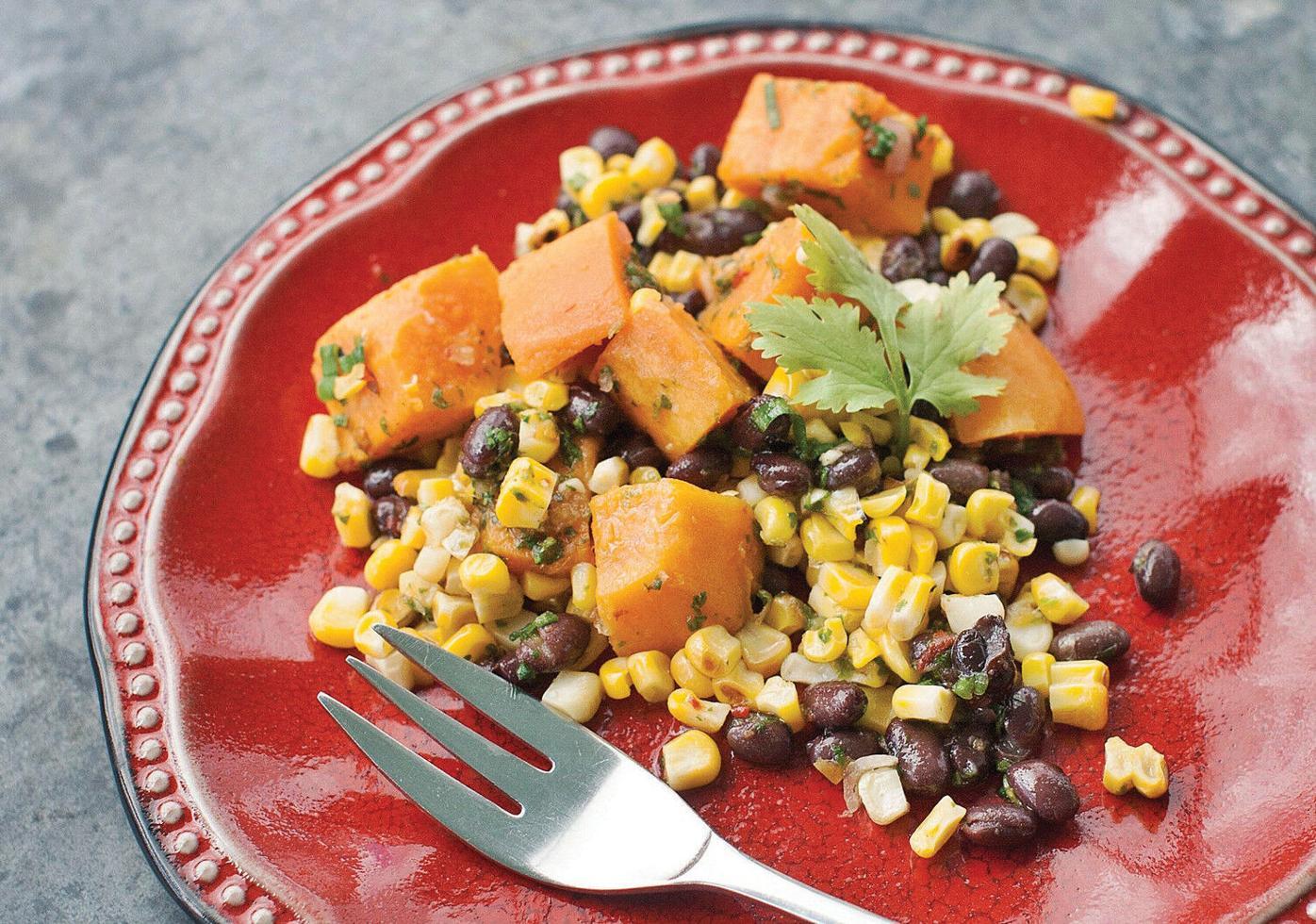 CORN AND BLACK BEAN SALAD: A veggie-packed summer dish