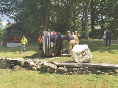 Woman suffers minor injuries in West Stockbridge rollover