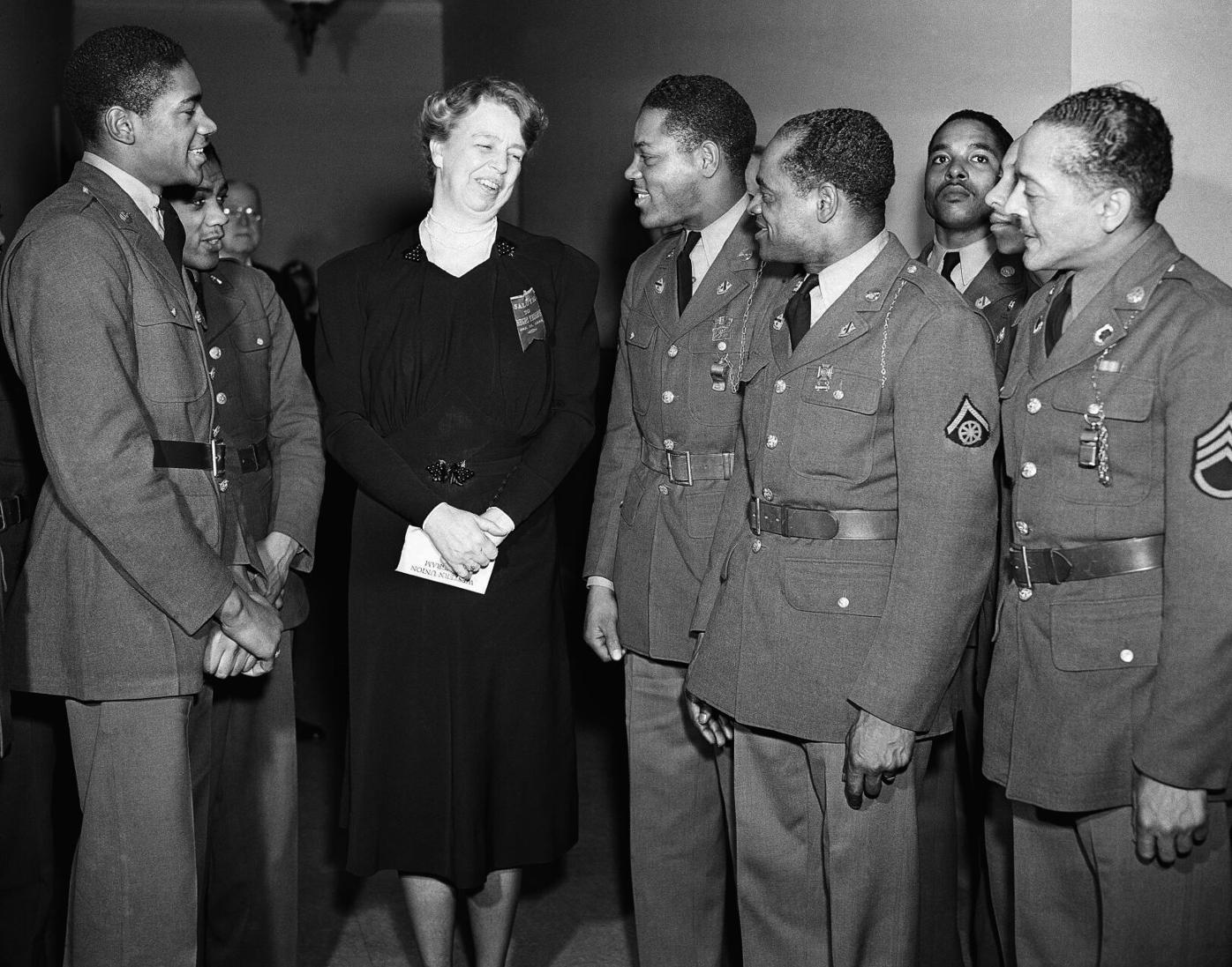First Lady Visits Black Soldiers 1942