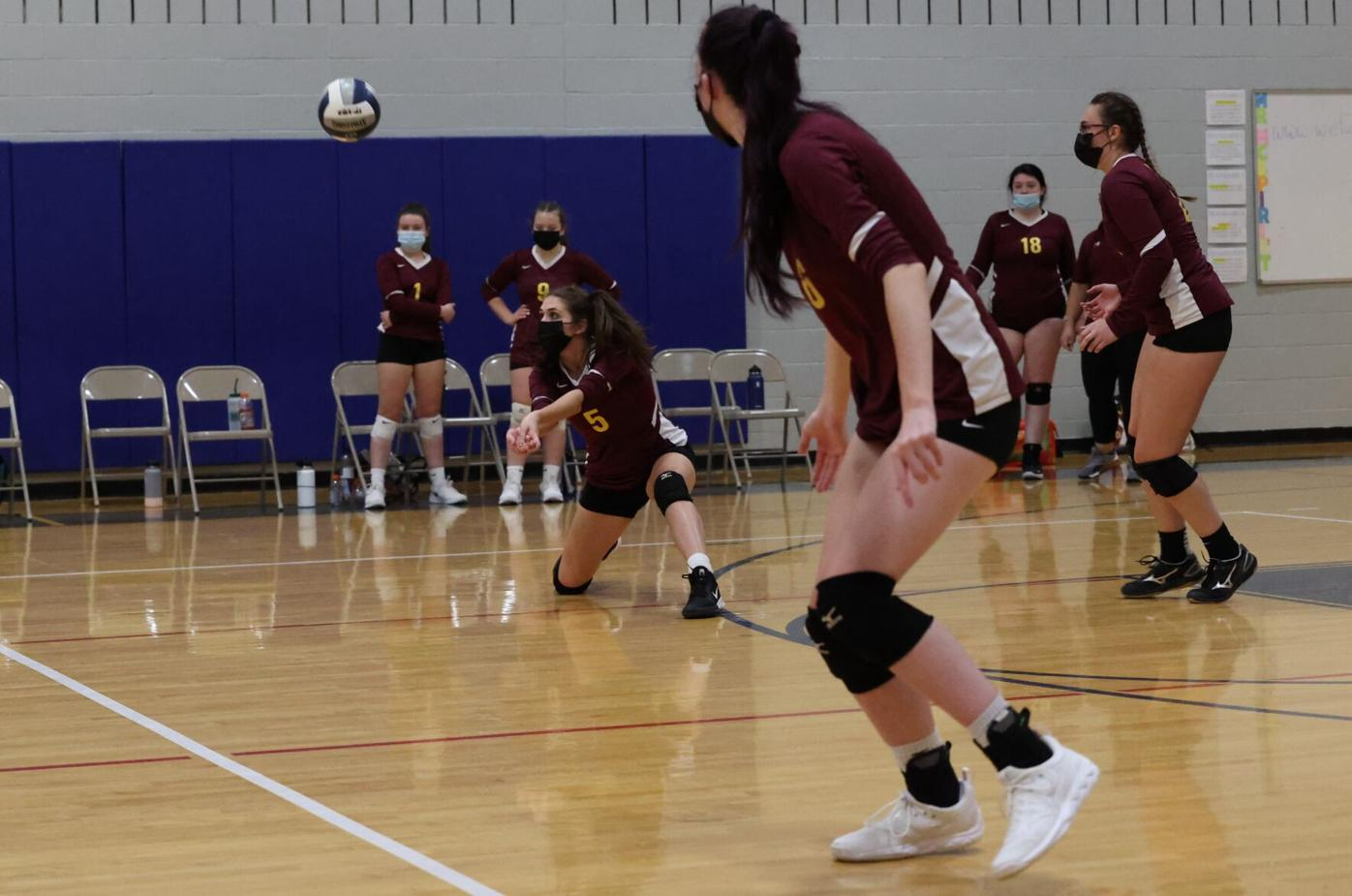 camryn o'dell gets low for a dig