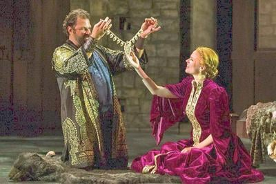 Gertrude in search of Claudius at Barrington Stage Company