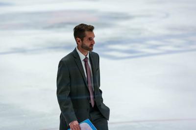 Nate Skidmore coaching in junior hockey