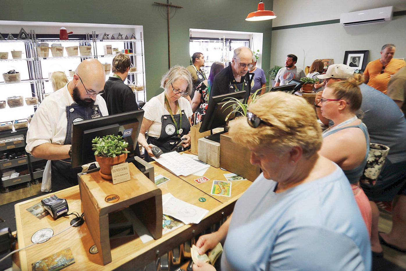 Lee's first recreational pot shop opens, offering customers an 'intimate experience'