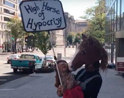 Maggie Sawhorse puppeteer in DC