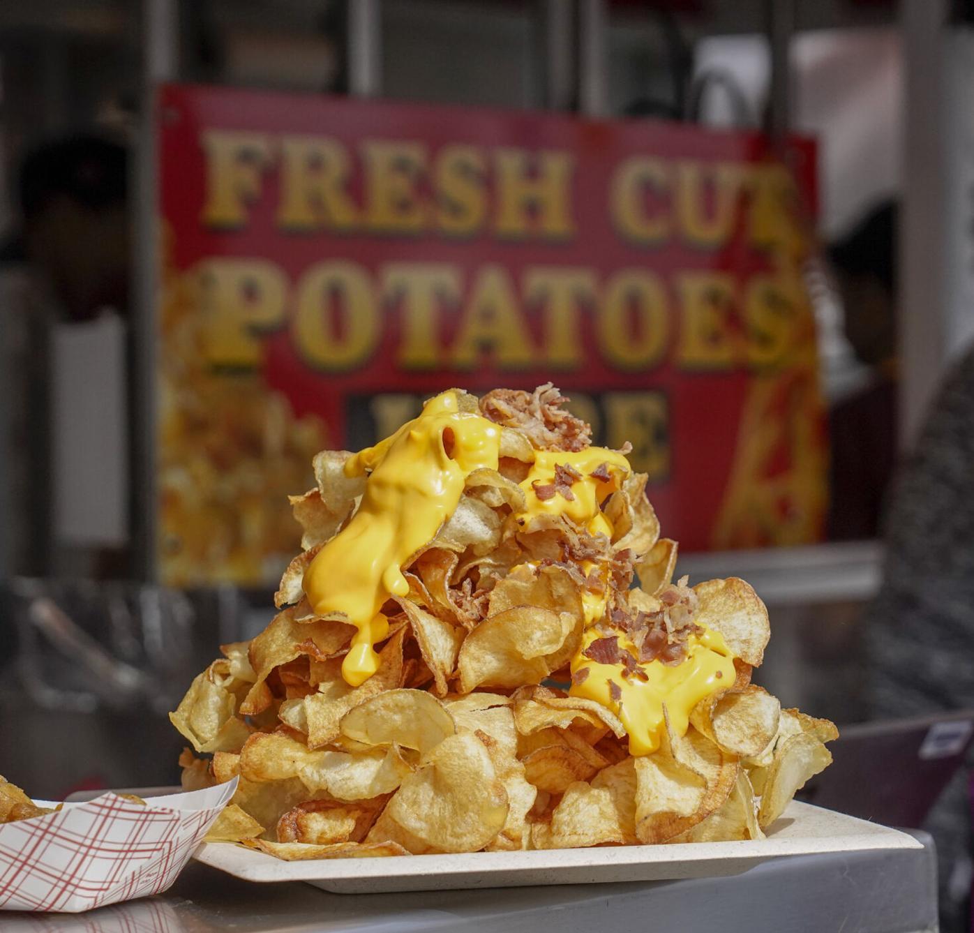 Pile of potato fries