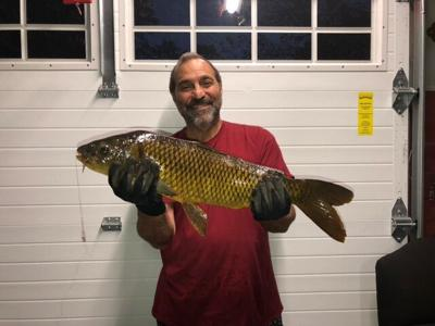Anthony Barone with his fish
