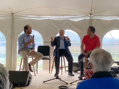Greenagers' Executive Director Will Conklin, with Emanuel Ax and Yo-Yo Ma