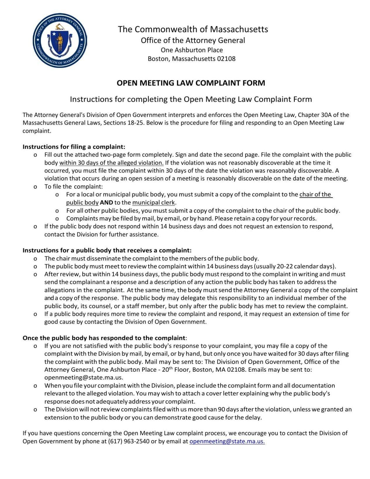 Attorney General's Office Open Meeting Law Complaint Form.pdf (201.34 KiB)