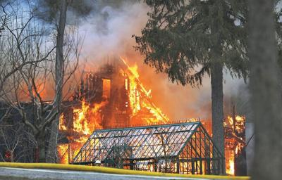 Historic Cherry Hill Road carriage house in Stockbridge destroyed in blaze