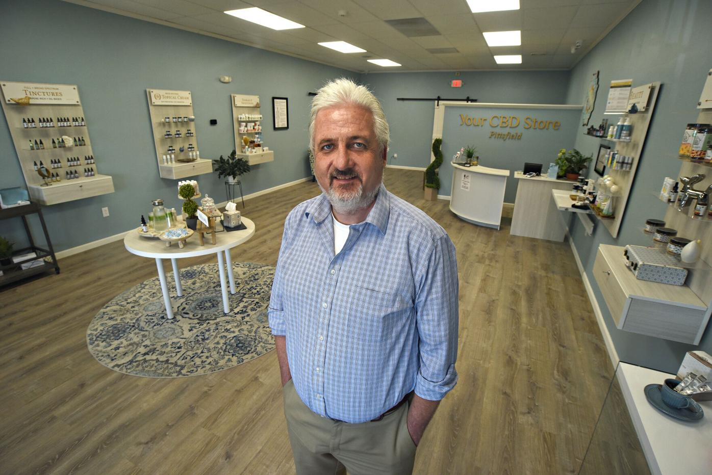 Owner Jim Bronson at Your CBD Store in Pittsfield